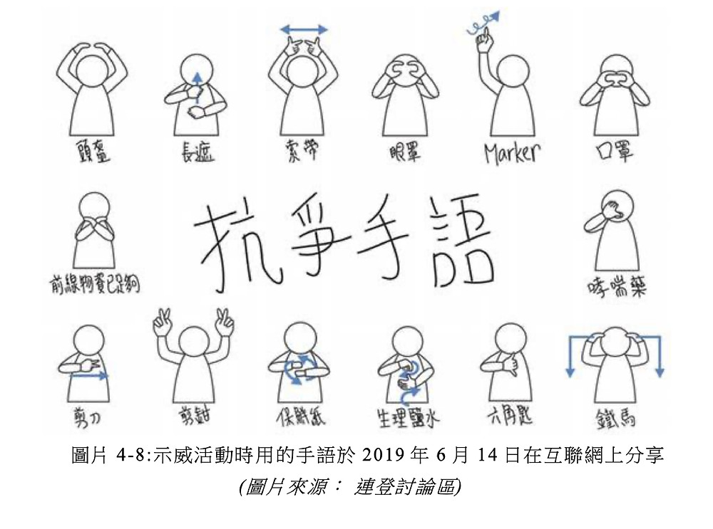FILE PHOTO: Sign language of Anti-Extradition Bill Protesters  © IPCC