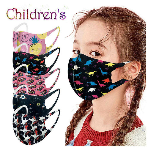 Face Mask Kids Size age 4-8 washable and reusable for Children