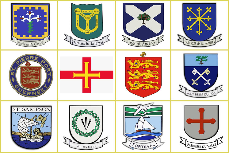 Guernsey Channel Islands Parish Flags and Crest