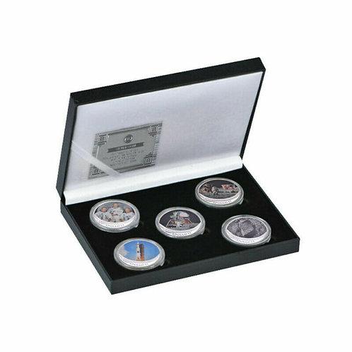 Apollo 11 Moon Landing Presentation Collectors Coin Set of 5