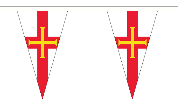 Liberation Day Guernsey Pennant Bunting flags 5m