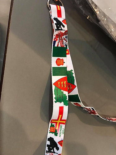 Force 135 liberation Guernsey Flag 75th neck Lanyard Collectable