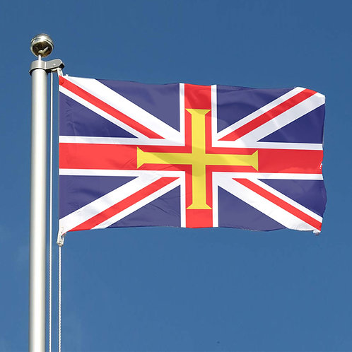Union Jack Flag and Guernsey Flag Design
