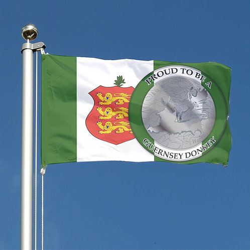 Proud to be a Guernsey Donkey Flag for the Founding Green flag.