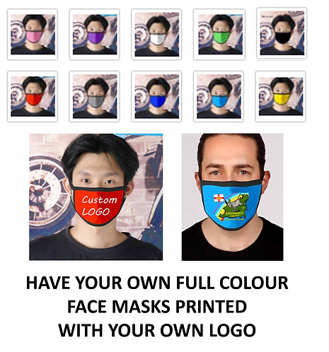 Face Mask Have your own custom logo printed