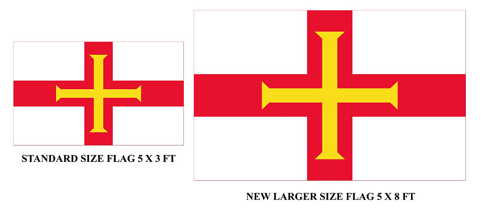 HUGE Guernsey Flag (both 5 x 8 ft and 5 x 10 ft versions)