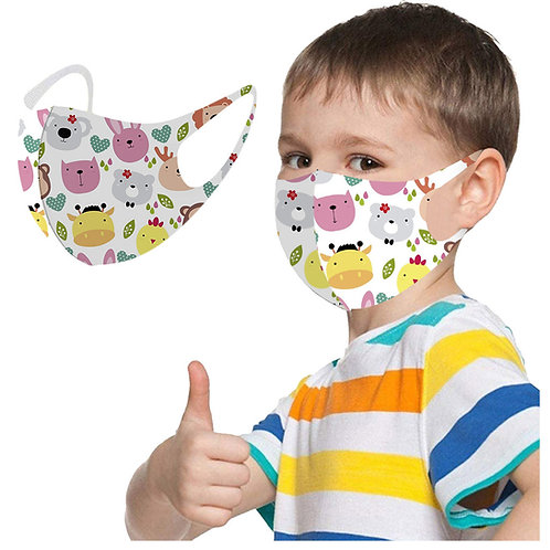 Face Mask Kids Size age 3-8 washable and reusable for Children