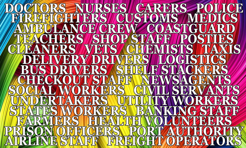 SALE ITEM - Rainbow Key Workers Thank You Flag LGBTQ Pride