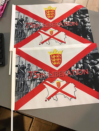 liberation 75th Jersey hand waving flag - SET OF 5 collectable