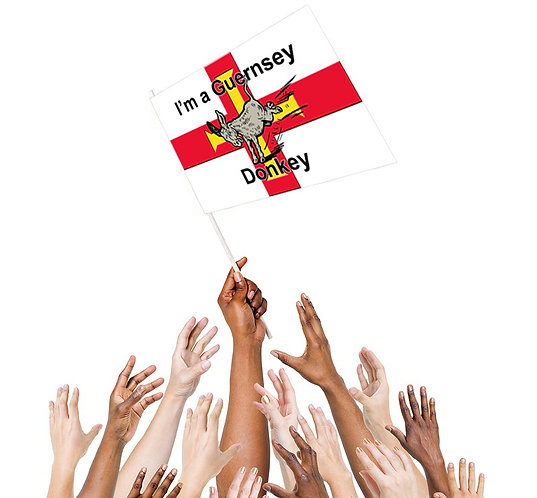 Guernsey Donkey hand flag