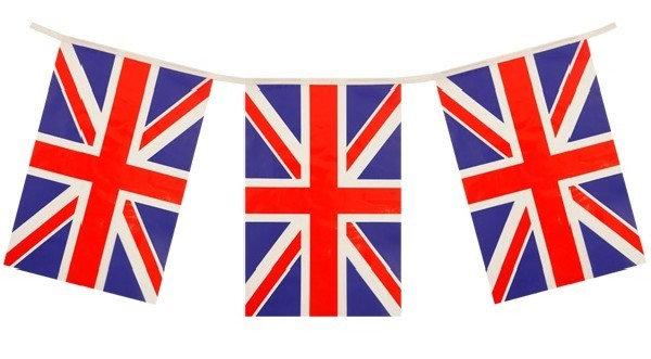 Union Jack UK Flag Bunting PVC 10 meter 20 flags