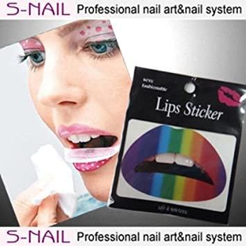 Rainbow Lip Tattoo and Nail Foils LGBTQ Pride