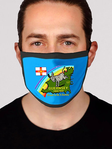Face Mask Guernsey Together satin washable reusable protection
