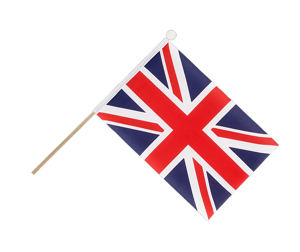Union Jack Hand Waving Flag for Liberation VE Day various sizes