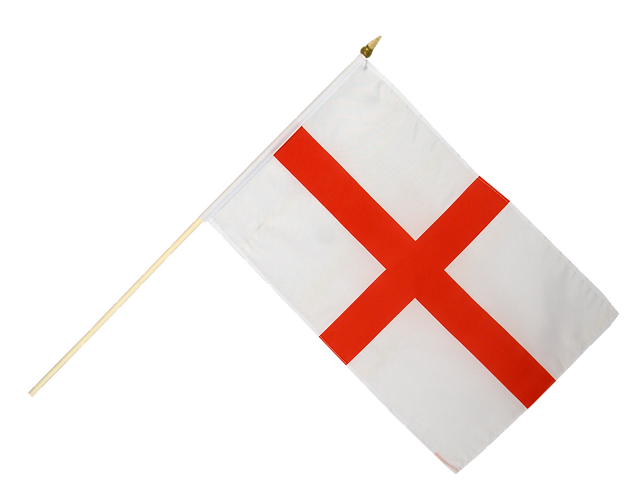 St George England Hand Waving Flag for Liberation football support