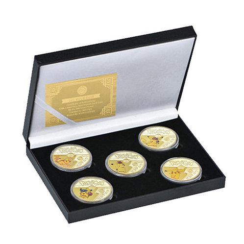 Pokemon Go Pikachu Presentation Collectors Coin Set of 5