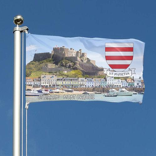 Jersey Parish Flag Scene and Crest design