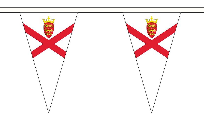 Liberation Day Jersey Pennant Bunting 5m