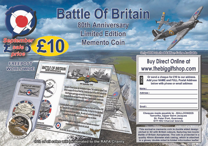Battle of Britain Memento Coin 80th Anniversary RAF