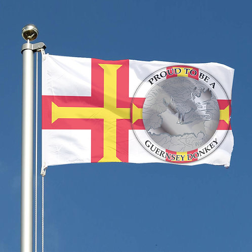 Proud to be a Guernsey Donkey Flag for the New Age official flag.