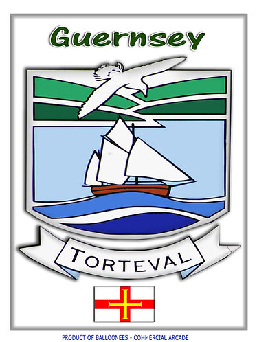 Guernsey Parish Car Decal Stickers (x2) plus islands