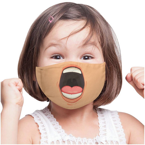 Funny Face Mask Toddler 3-6 washable and reusable for Children