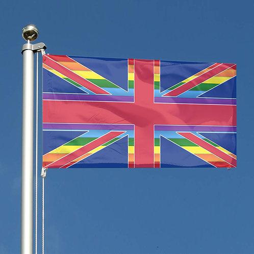 Key Workers Thank You Rainbow stripes Union Jack flag UK Together