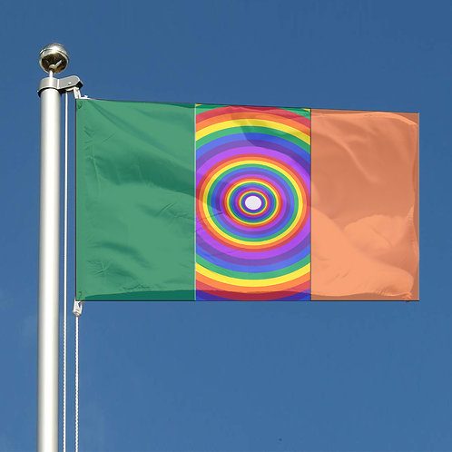 Key Workers Thank You Rainbow circles  Republic of Ireland Together flag
