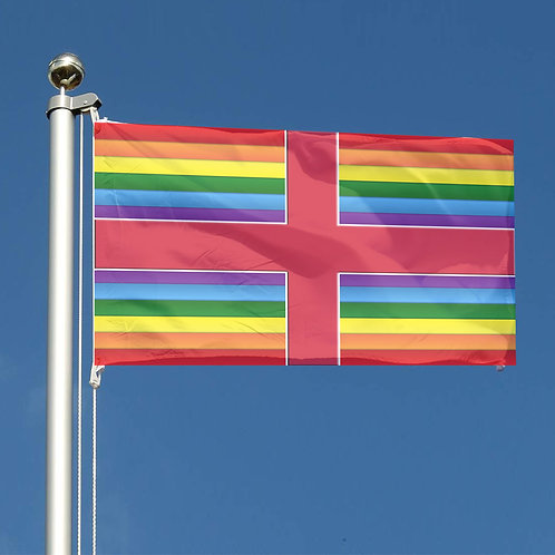 Key Workers Thank You Rainbow stripes St George England Together flag