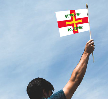 Guernsey Together hand flag
