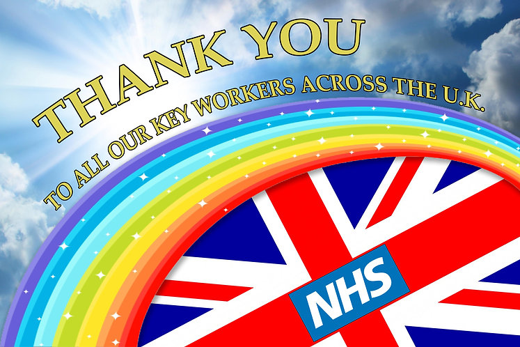 Thank You Key Workers Flag NHS UK Together Scotland Wales Northern Ireland