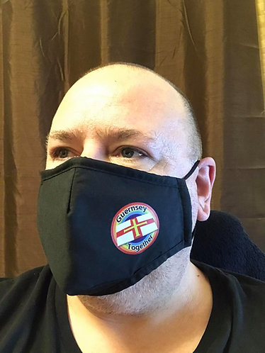 Guernsey Together Face Mask adult washable triple layer with filter pocket
