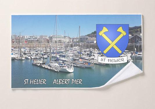 Jersey Parish Microfiber Scene and Crest Beach Towel