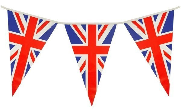 Union Jack UK Pennant Flag Bunting PVC 7 meter 25 flags