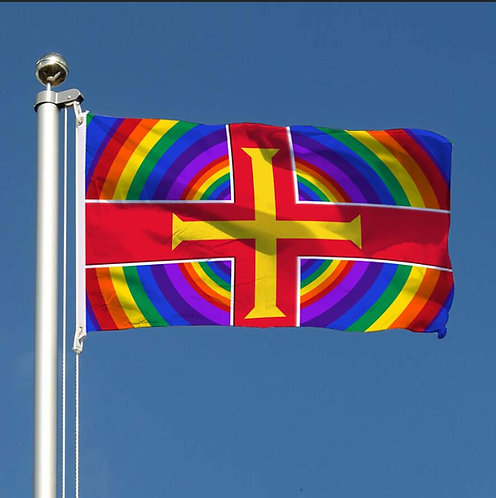 SALE ITEM - Thank You Guernsey Together  Rainbow Flag Pride LGBTQ
