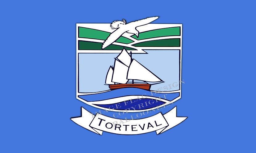Guernsey Parish flag of Torteval Channel Islands