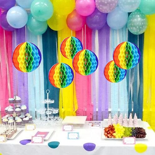 Rainbow Honeycomb Ball Hanging Decorations LGBTQ Pride