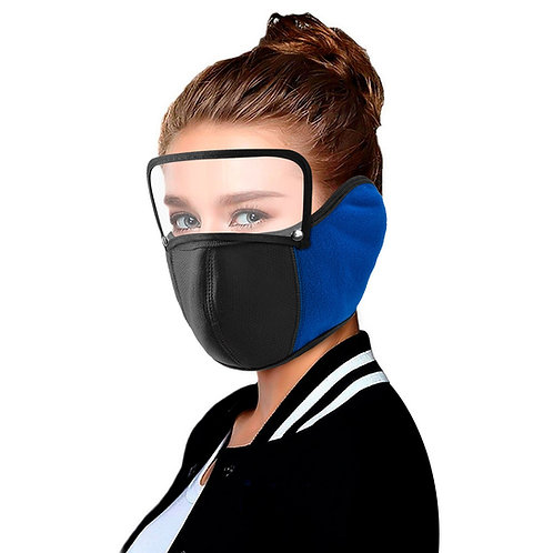Face Mask washable protection Adult Size with Earmuffs AND Visor