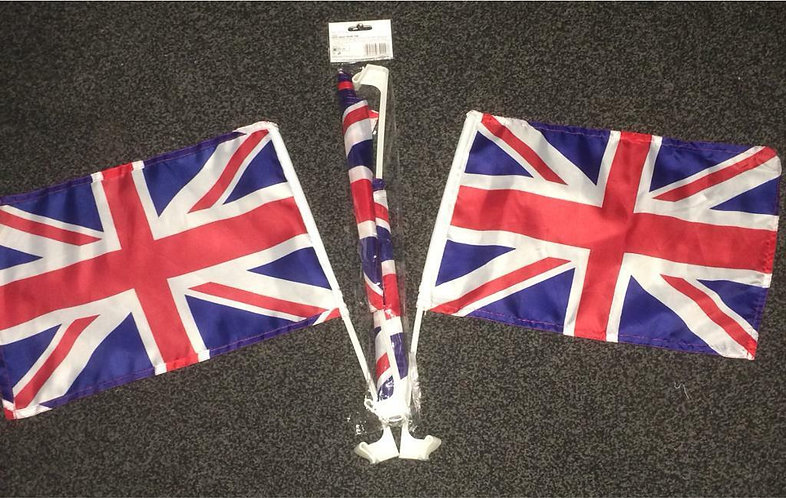 CAR FLAGS Union Jack Flag set of 4 Liberation D Day