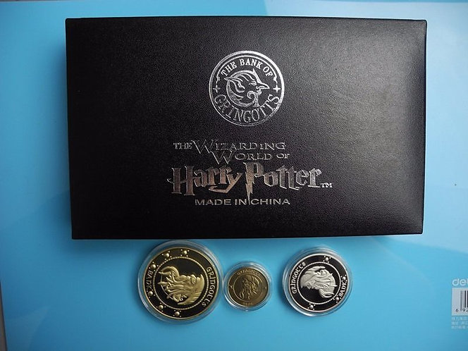 Harry Potter Gringotts Presentation Collectors Coin Set of 3