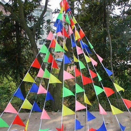 Rainbow Bunting Flags multi colour pennant 50 meters LGBTQ