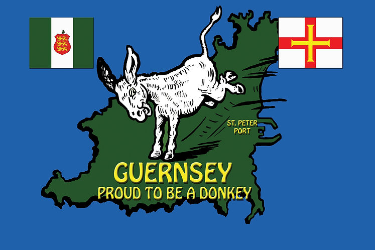 Channel Island Guernsey Donkey Proud Liberation 1945 Flag