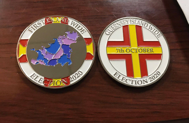 Guernsey Election 2020 Coin island wide voting memento