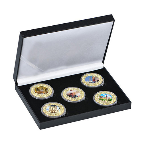 France Notre-Dame De Paris Presentation Collectors Coin Set of 5