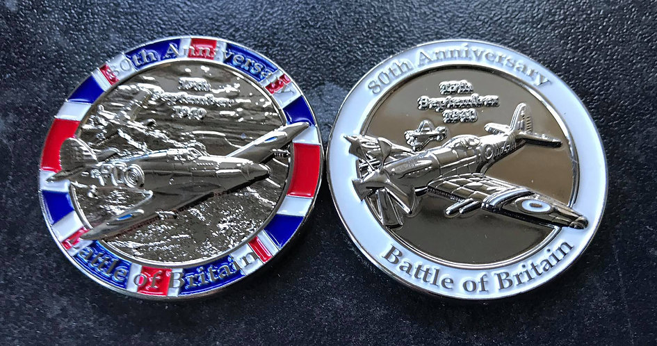 Battle of Britain Memento Coin 80th Anniversary RAF