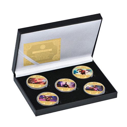 Iron Man Tony Stark Avengers Marvel Presentation Collectors coin 5 piece set