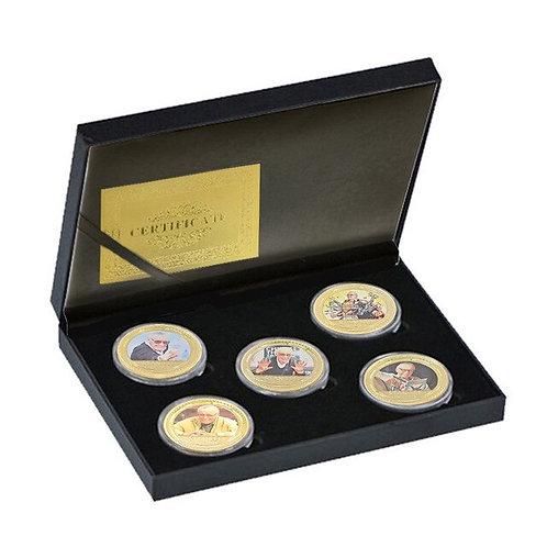 Stan Lee Marvel  Collectors Coin Set of 5 pieces