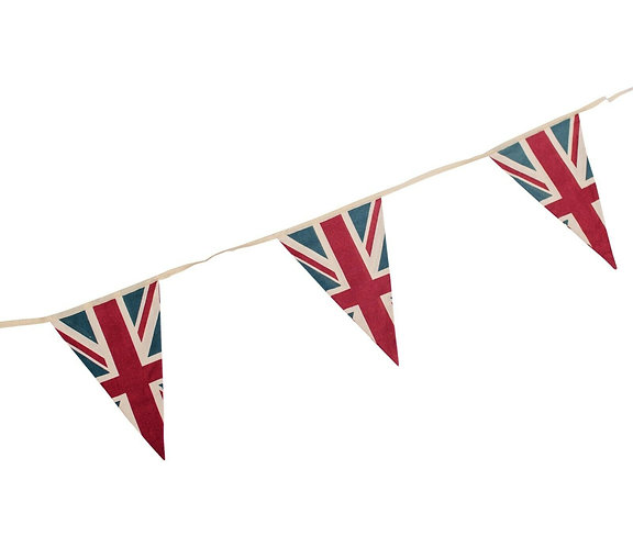 VE Day 8th May Vintage Retro Union Jack Flag Fabric Bunting Pennants 5m