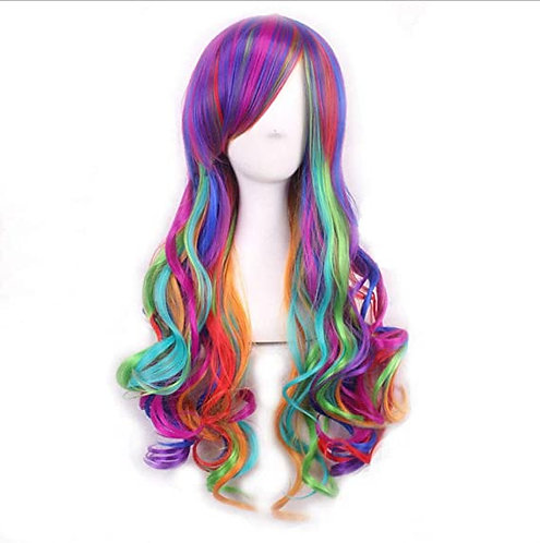 Rainbow Wig Cosplay quality 22 inch or short bob 16 inch LGBTQ Pride Fancy Dress