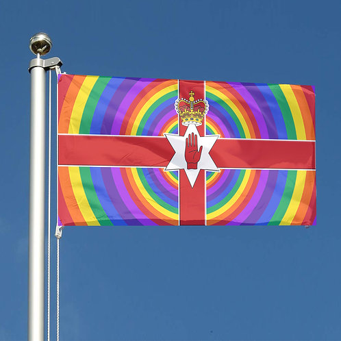 Key Workers Thank You Rainbow circles Ulster Northern Ireland Together flag